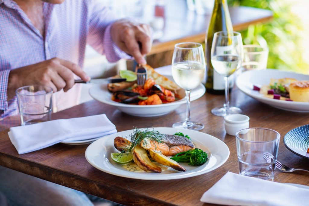 The Boatshed Restaurant Grilled Salmon